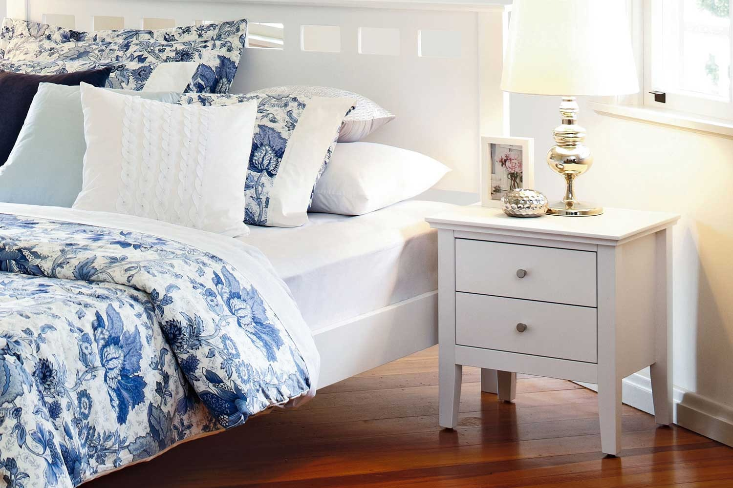 Lillie White Bedside Table