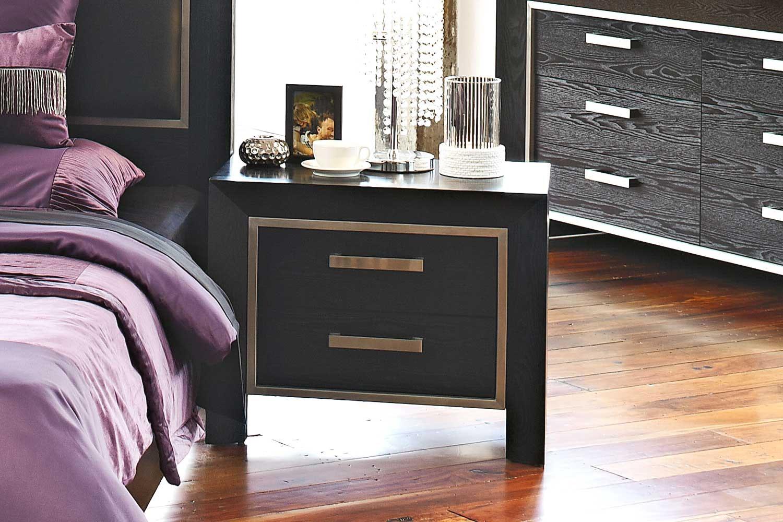 Stunning Black Bedside Table