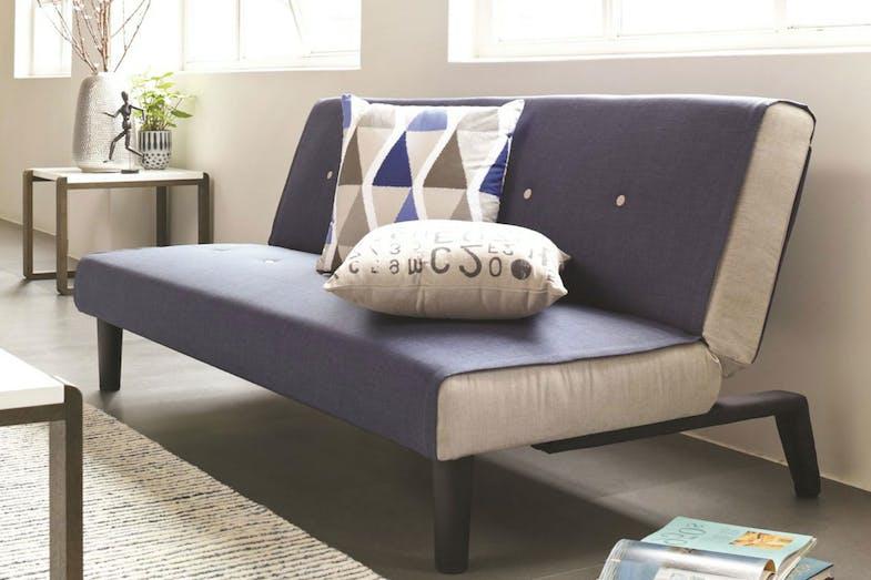 Oslo sofa bed blue harvey norman new zealand for Sofa bed new zealand