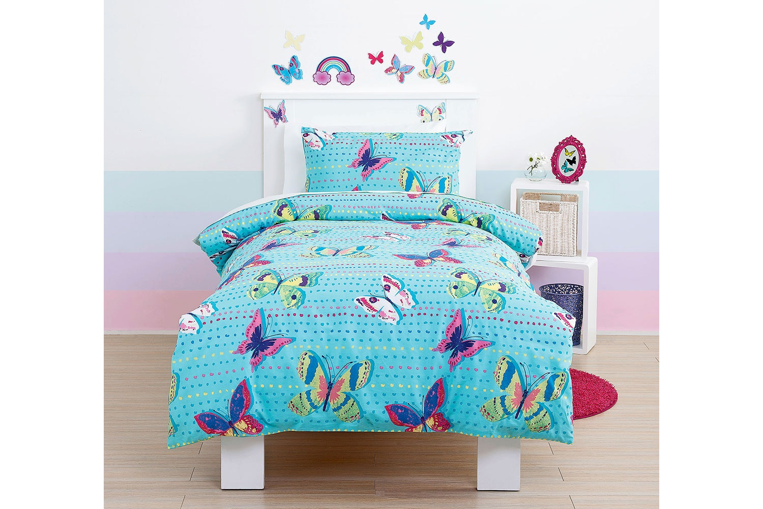 Rainbow Butterfly QCS -  Squiggles