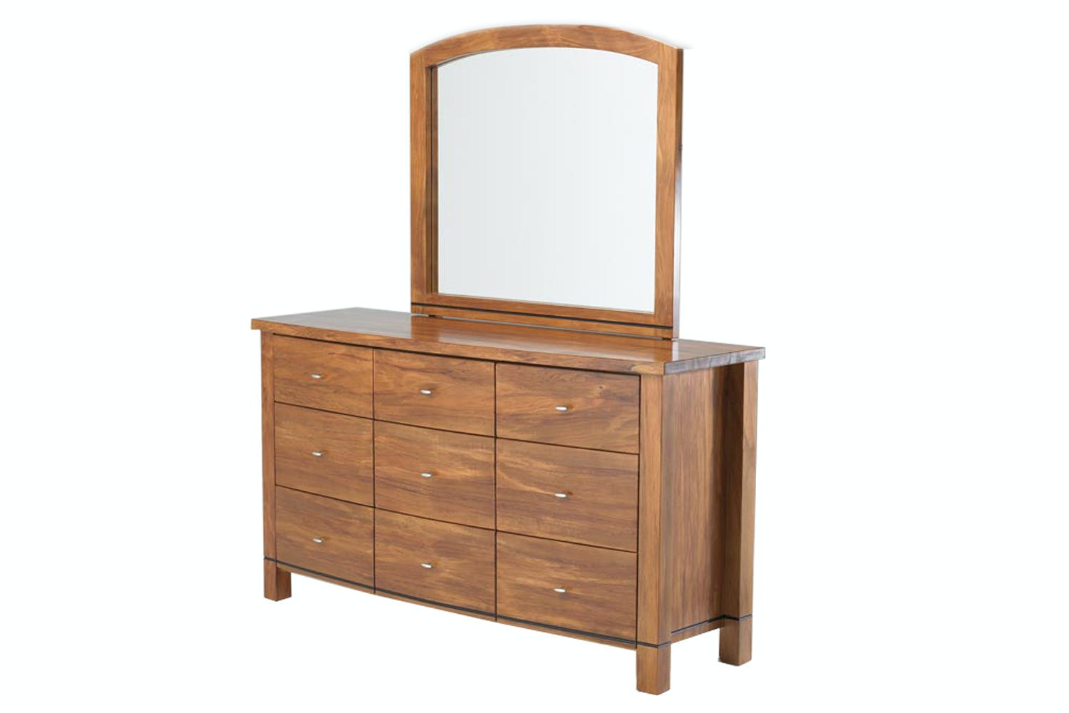 Vision Rimu 9 Drawer Dresser And Mirror By Ezirest Furniture Harvey Norman New Zealand