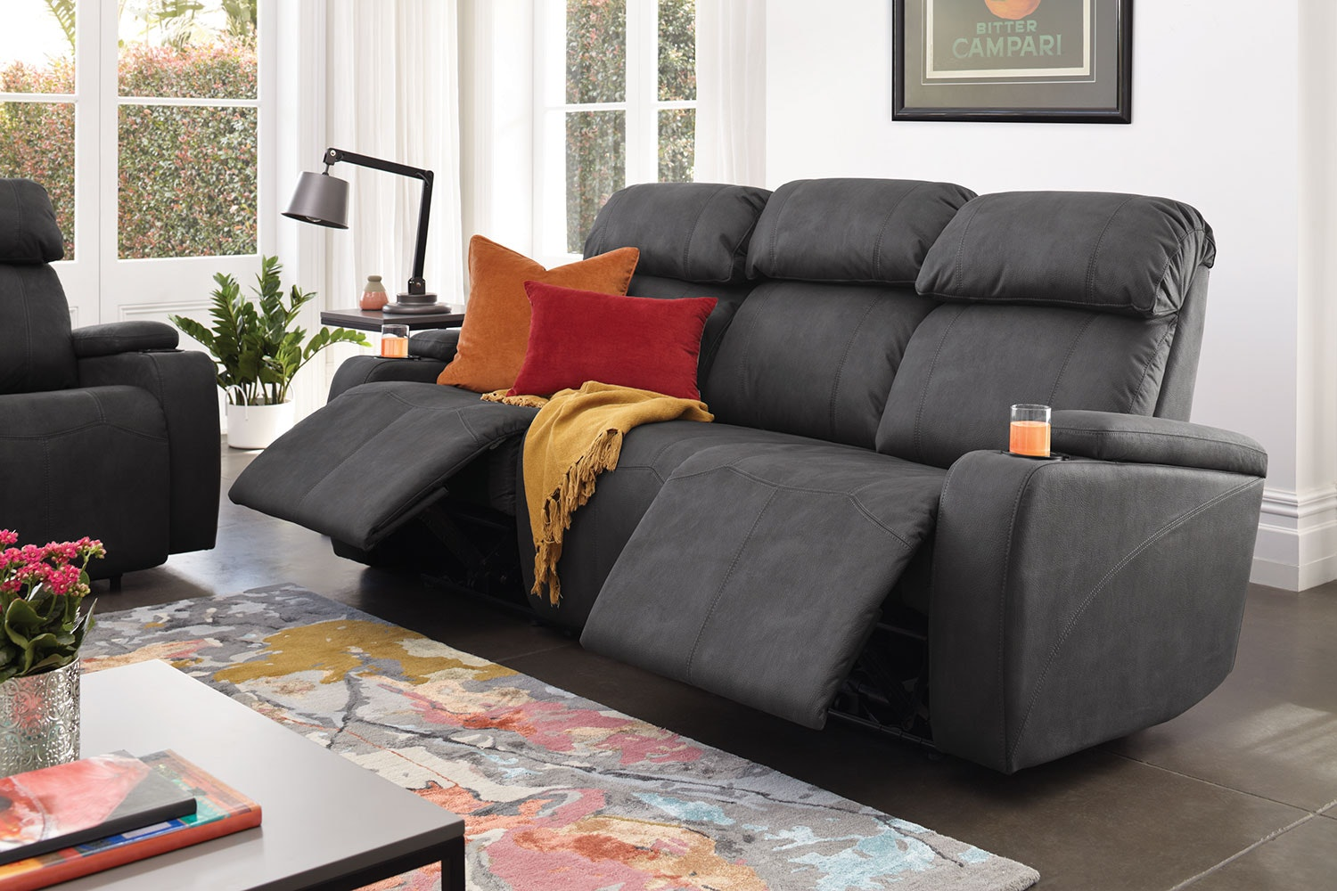 Ergo 3 Seat Fabric Theatre Sofa by Synargy