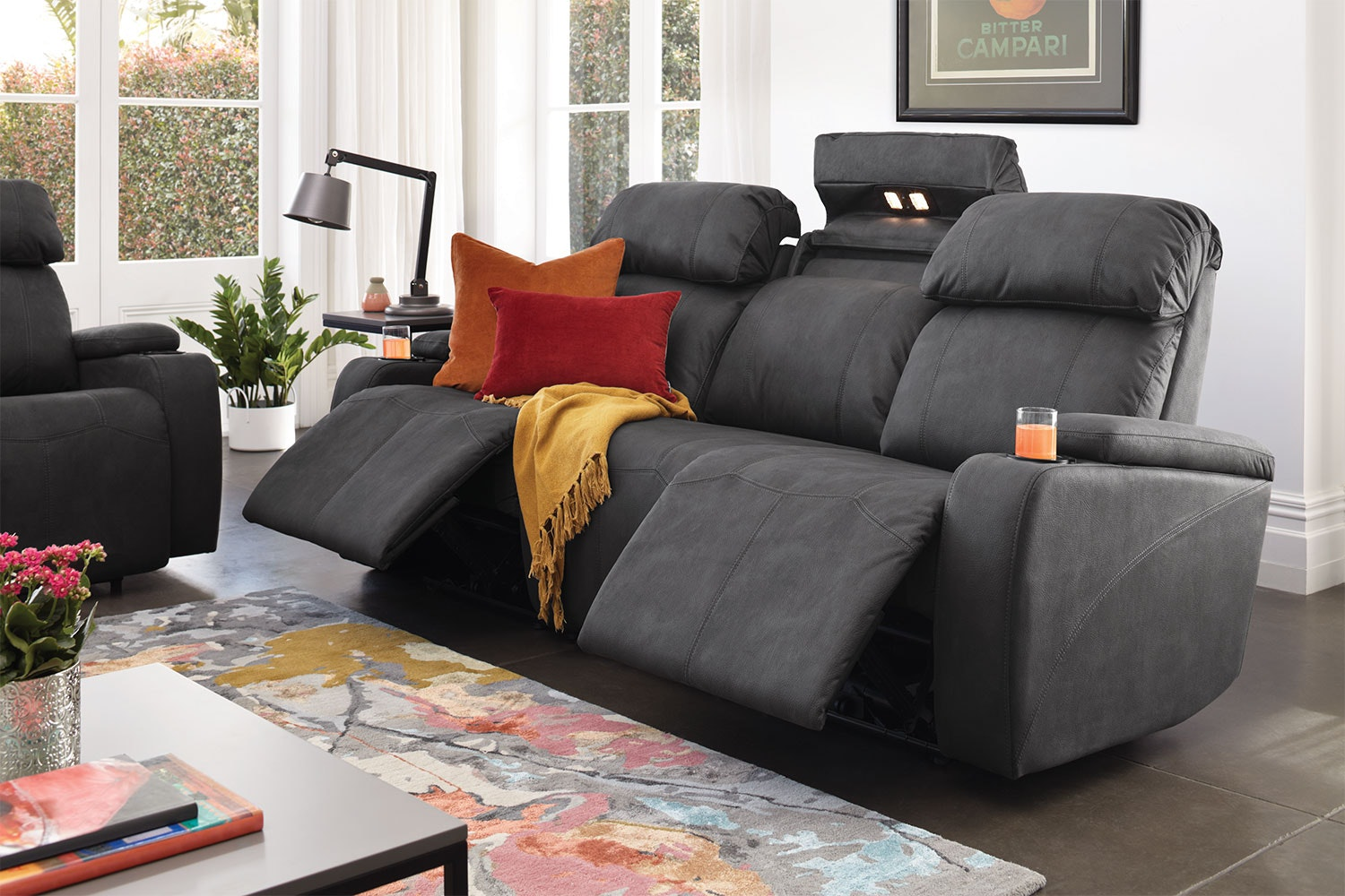 Ergo 3 Seater Fabric Theatre Sofa by Synargy