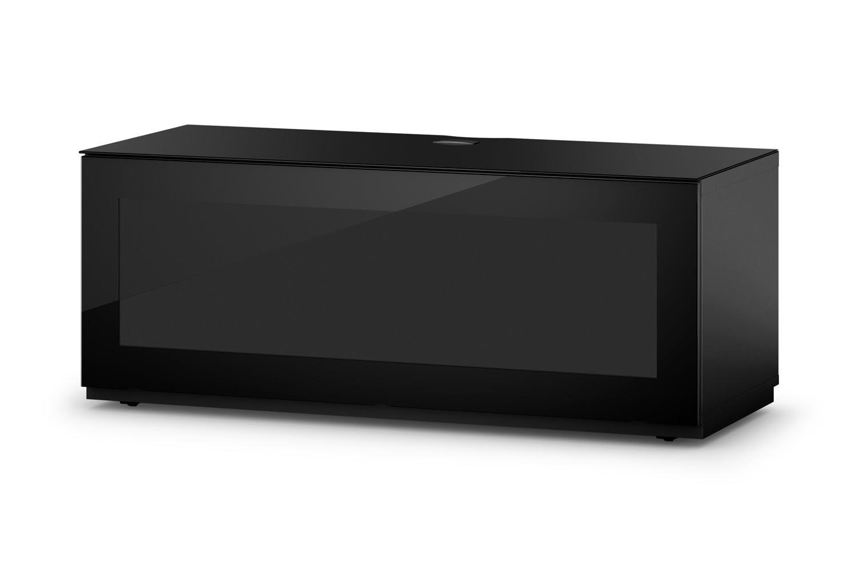Sonorous studio series 1100mm tv av cabinet black for Armoire television salon