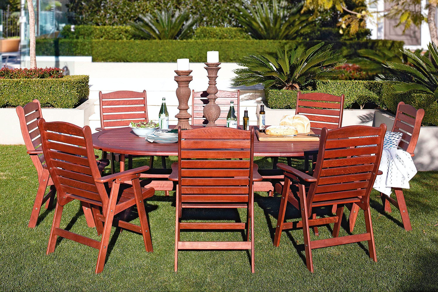Whitby 9 Piece Outdoor Dining Setting