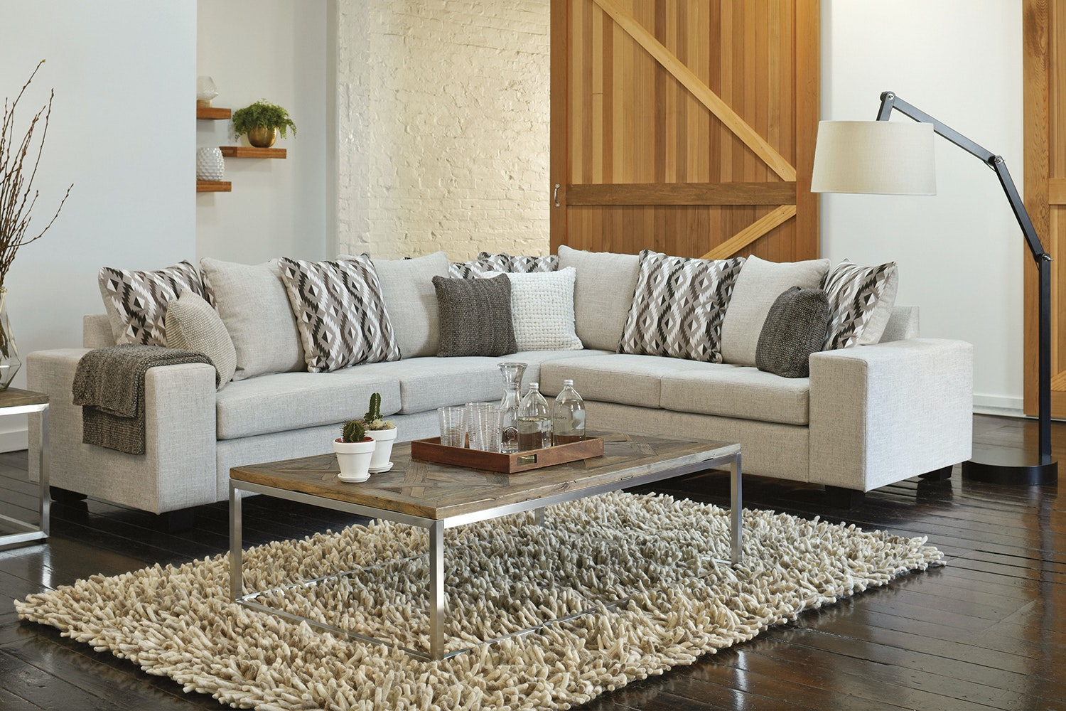 Lisbon Fabric Corner Suite by White Rose