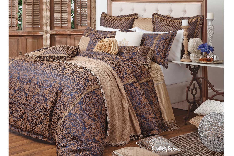 Rossini Sapphire Bed Linen by Da Vinci