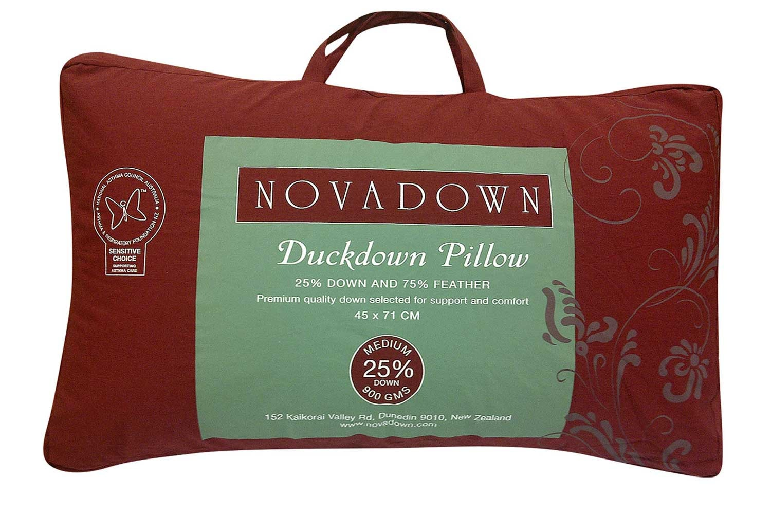 25/75 Duck Down Pillow by Novadown