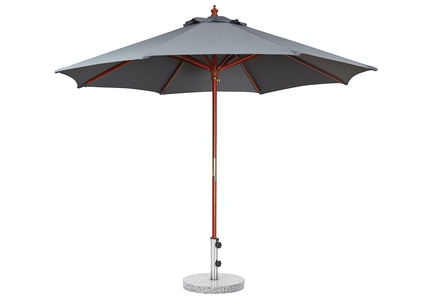 Kosmo 3.5m Black Outdoor Umbrella with 25kg Granite Base by Peros