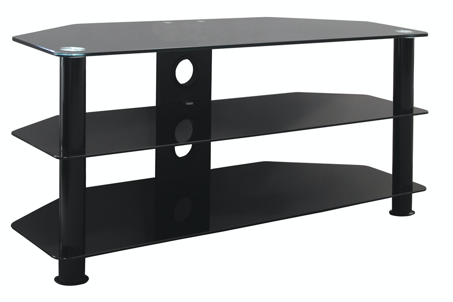 Arawhata 3 Shelf 32 - 42 TV Table Black by Pudney and Lee