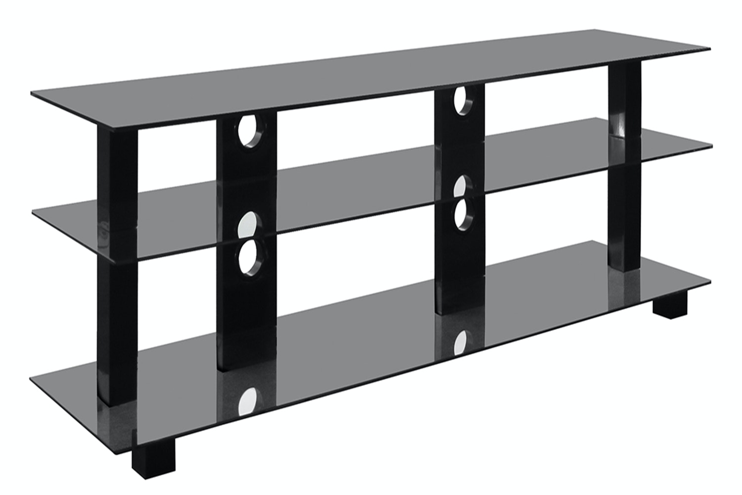 Kaiapoi 3 Shelf 42-65 TV Table Black by Pudney and Lee