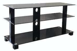Black TV Shelf - Pudney and lee