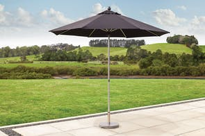 Triton 2.7m Black Outdoor Umbrella