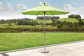 Triton 2.7m Lime Outdoor Umbrella with 25kg Granite Base by Peros