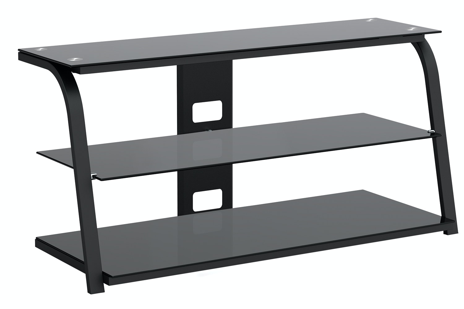 Awatere 3 Shelf 32 - 55 TV Table Black by Pudney and Lee