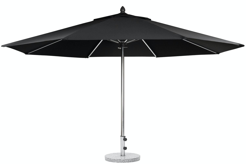 Triton 3.5m Black Outdoor Umbrella with 25kg Granite Base by Preos