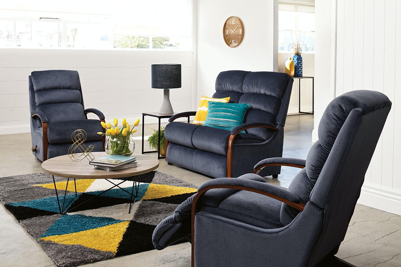 Charleston 3 Piece Fabric Recliner Lounge Suite By La Z Boy Harvey