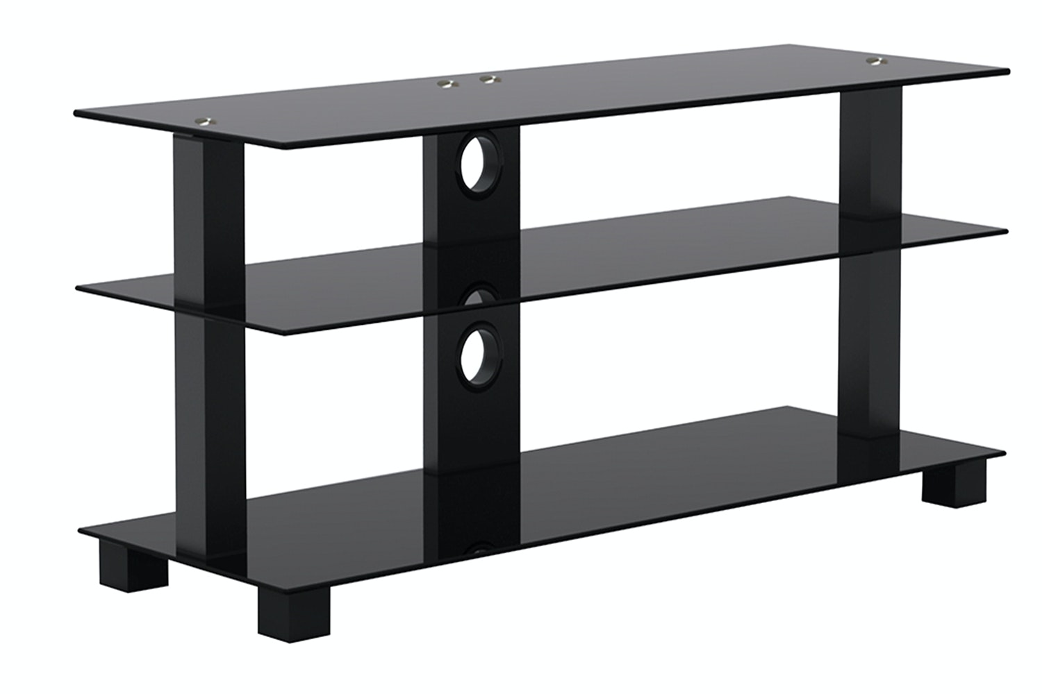Kaiapoi 3 Shelf 32-46 TV Table Black by Pudney and Lee