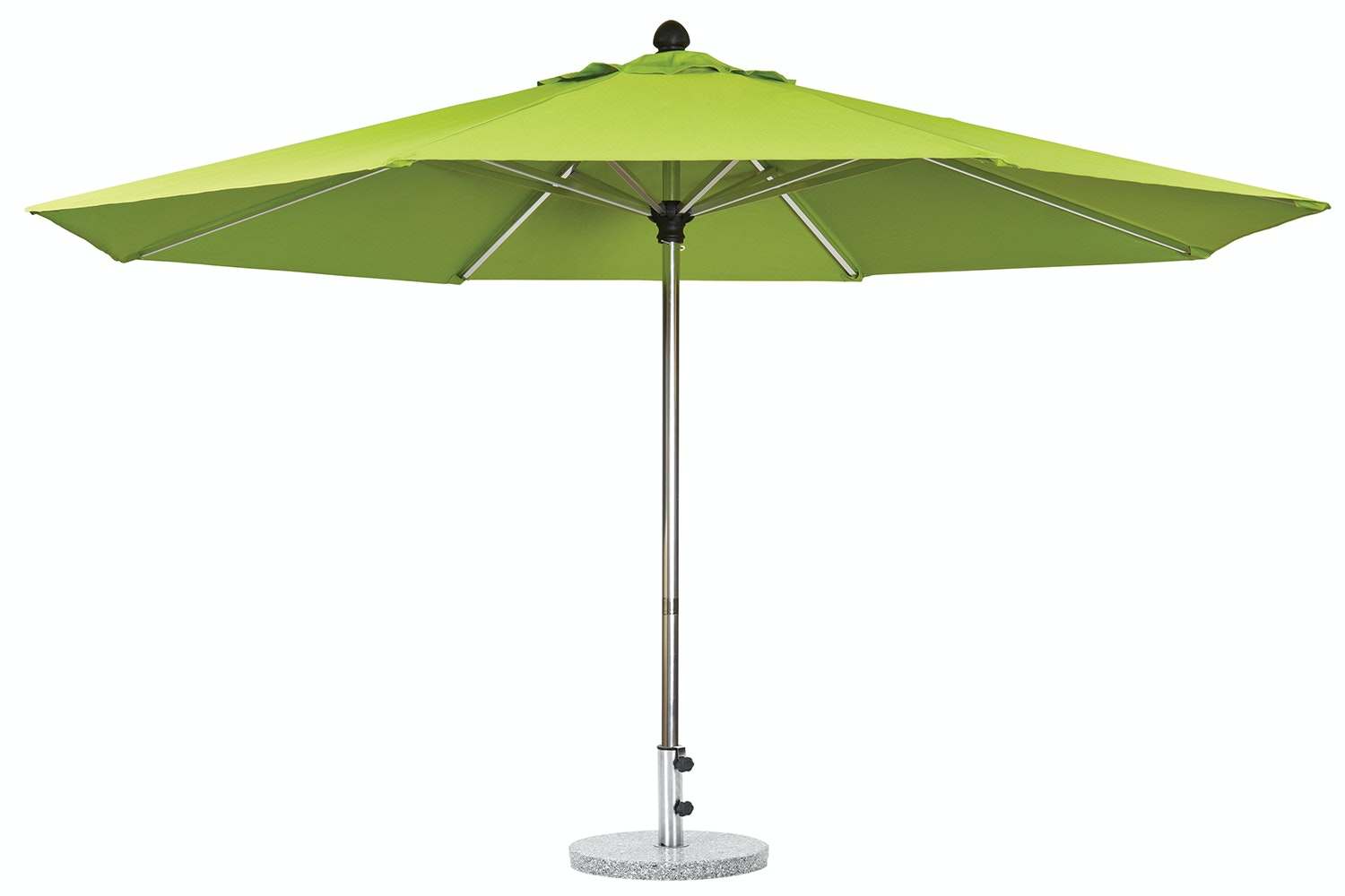 Triton 3.5m  Lime Green Outdoor Umbrella with 25kg Granite Base by Peros