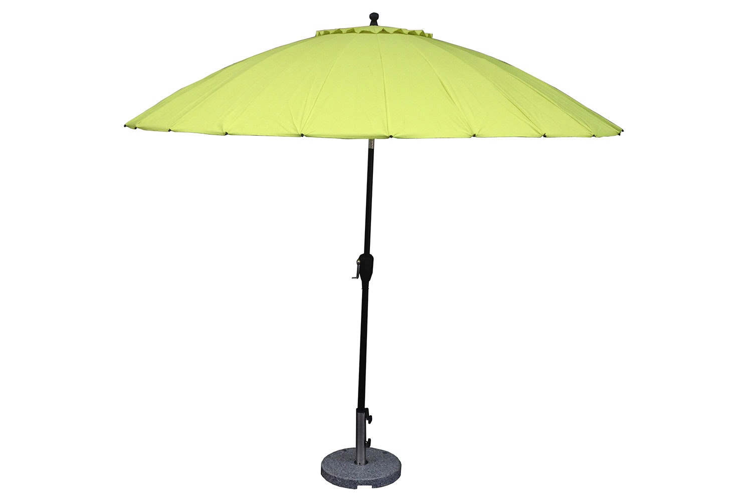 Oriental 2.7m Lime Outdoor Umbrella with Base by Peros
