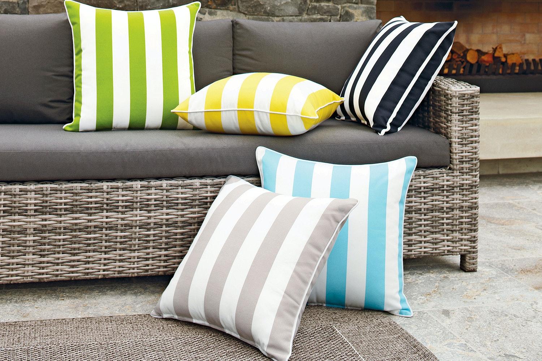 Riviera Stripe Outdoor Cushion by Rapee