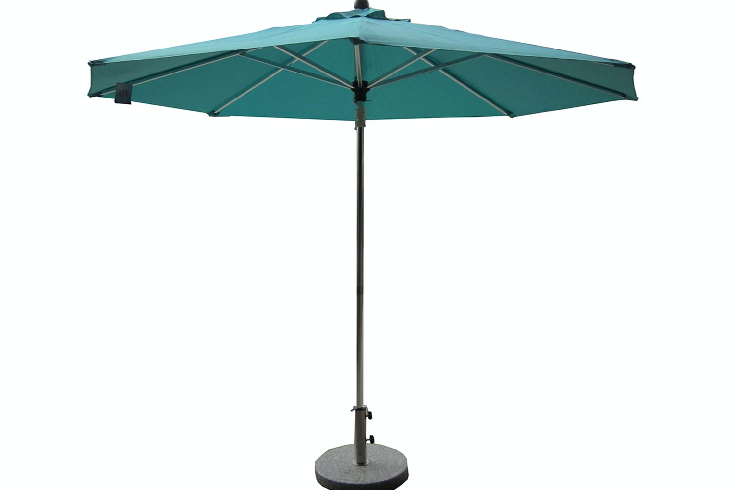 Triton 2.7m Teal Outdoor Umbrella with 25kg Granite Base by Peros