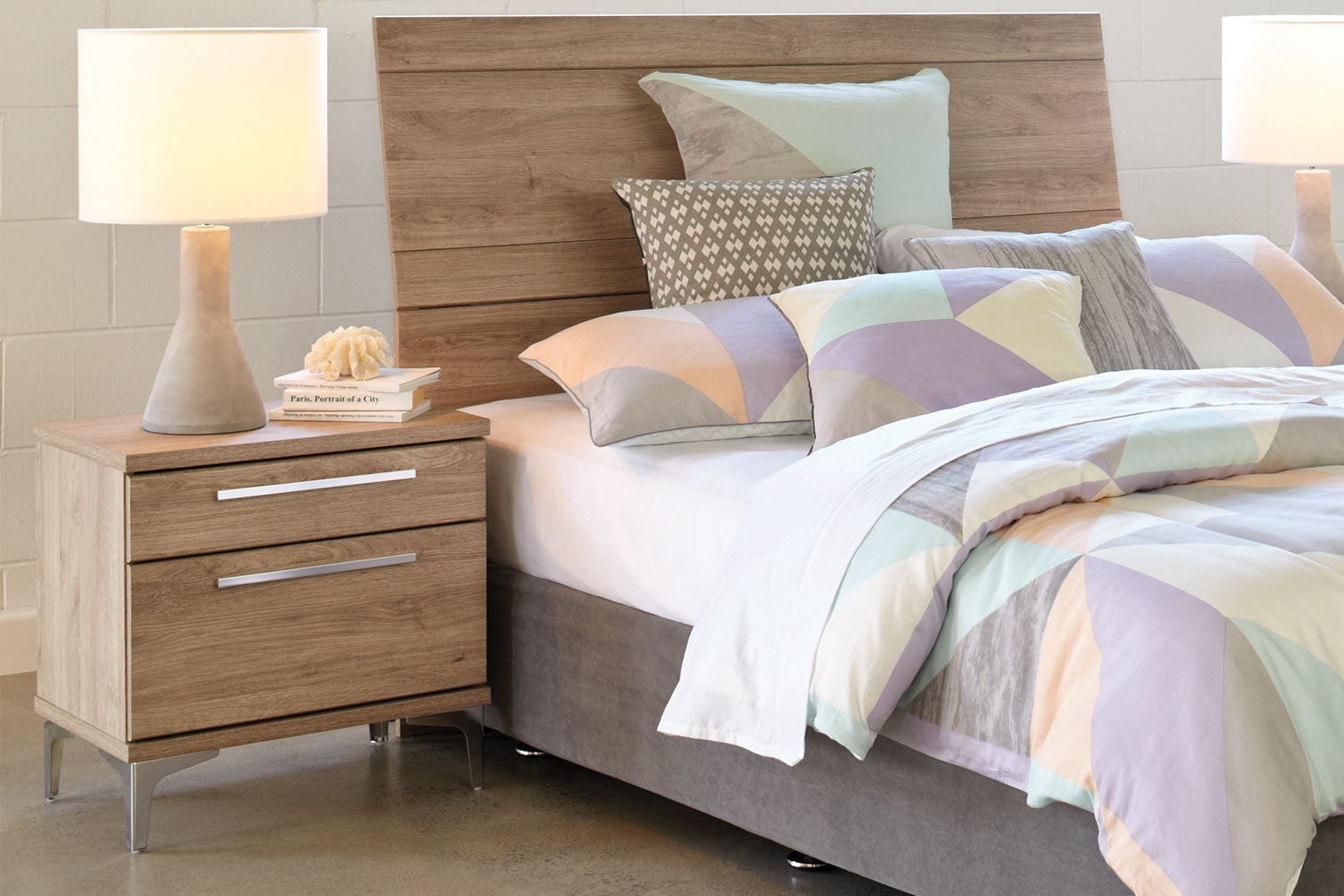 Barclay 2 Drawer Bedside By Compac Furniture