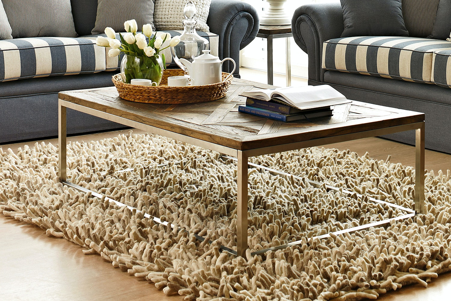 Bayonne Coffee Table - Old Elm - Collage