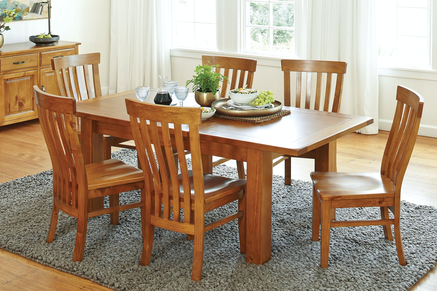 Monterey 7 Piece Extension Dining Suite by Debonaire