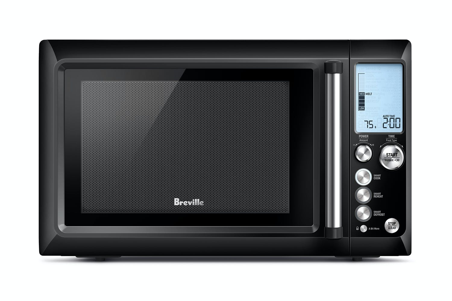 Breville Quick Touch Microwave Oven Black Sesame