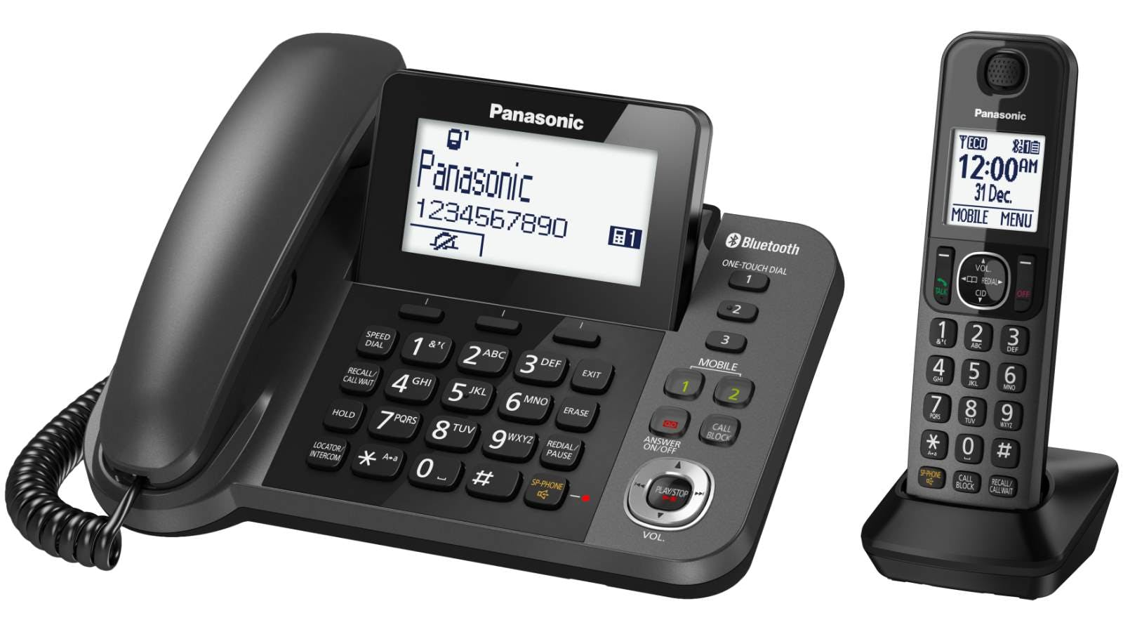 Panasonic Kx Tgf380azm Corded And Cordless Phone Harvey Norman New