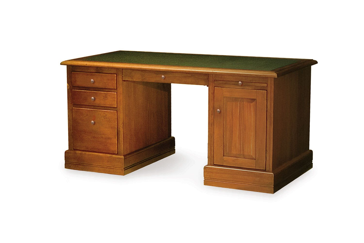 Image of Waihi Presidents Desk with Inlaid Top by Coastwood Furniture