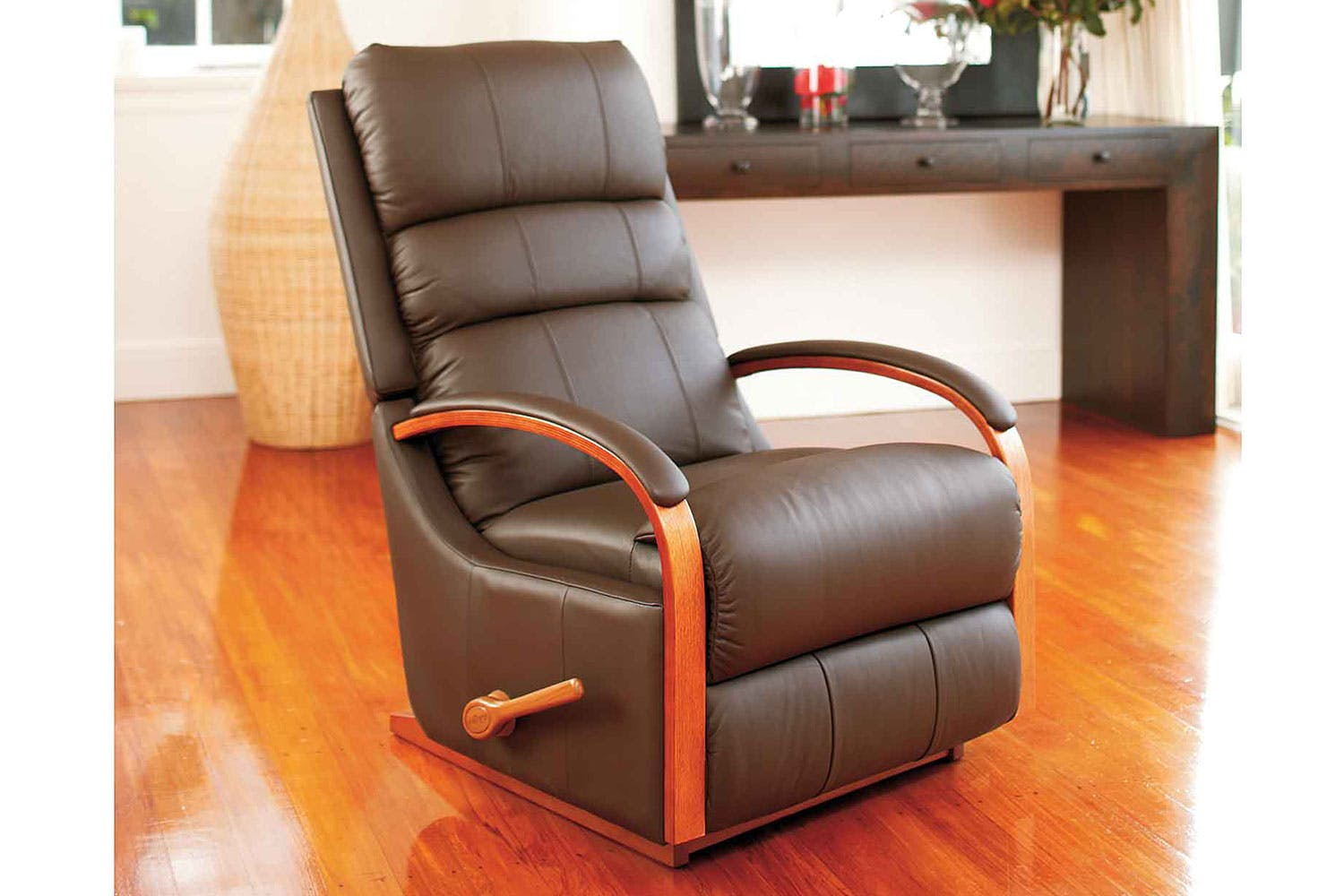 charleston leather recliner chair by la z boy harvey norman new