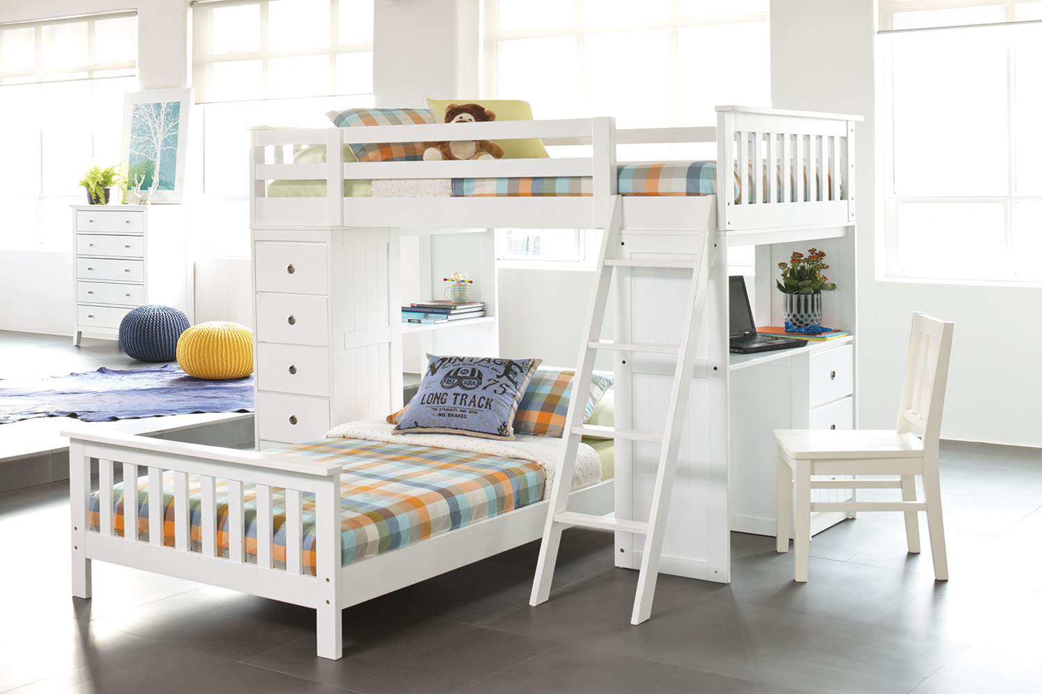 Astro Loft Bunk Bed Frame by John Young Furniture Harvey Norman