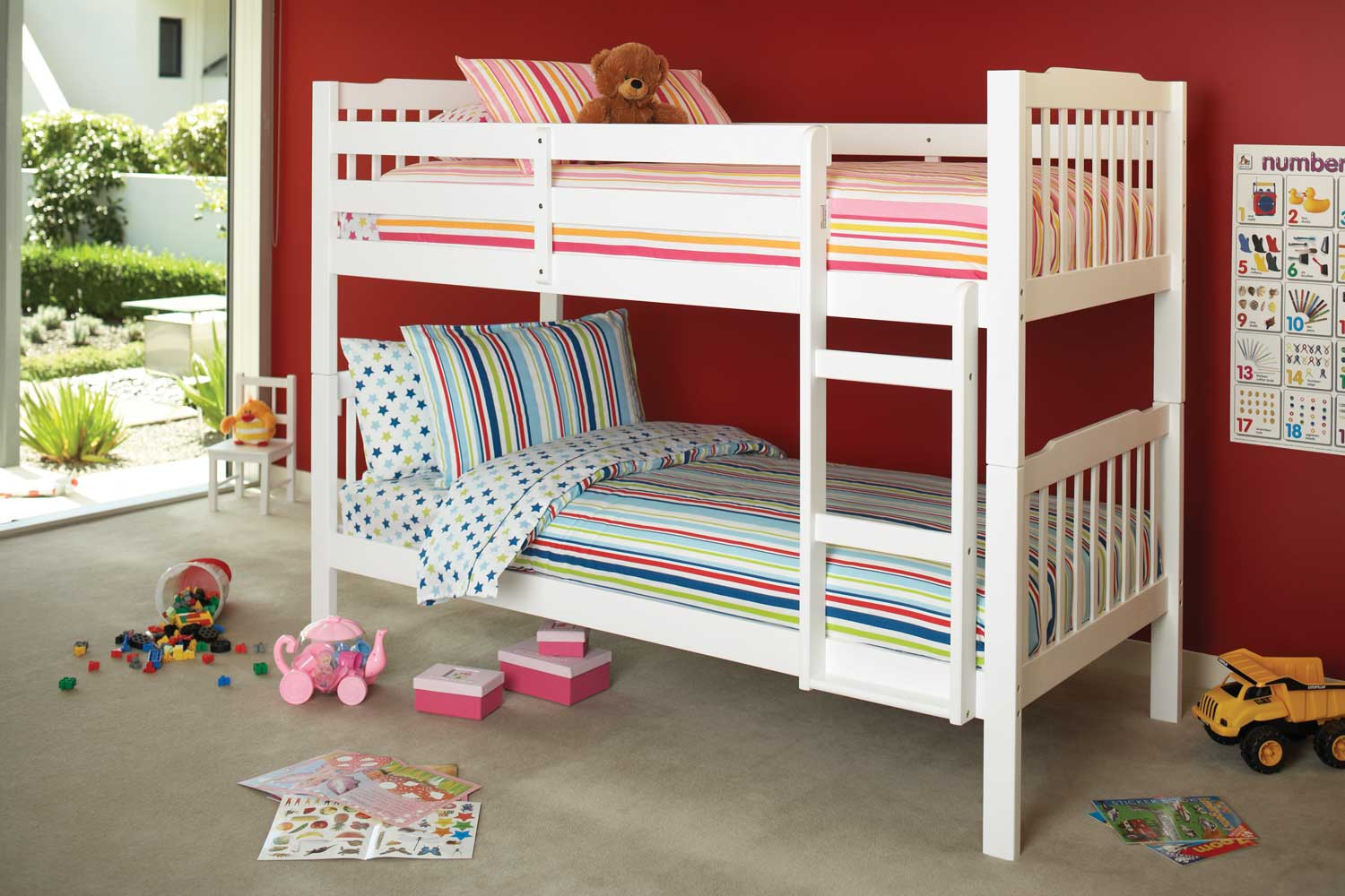Jessica King Single Bunk Bed Frame by Nero Furniture Harvey