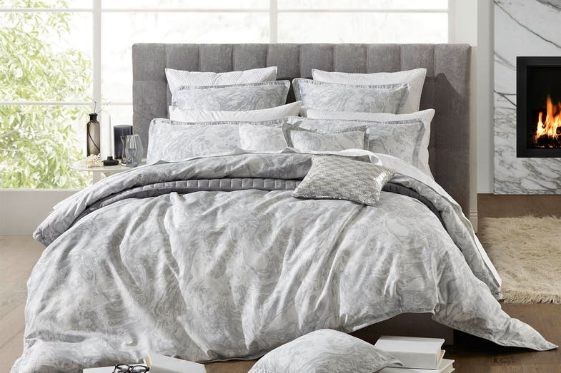 Alesso Silver Duvet Cover Set By Private Collection