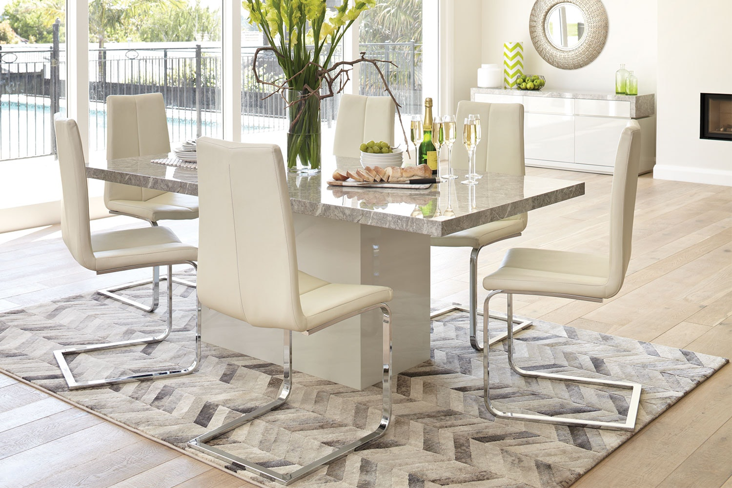 Marmo 7 Piece Dining Suite By Insato Furniture