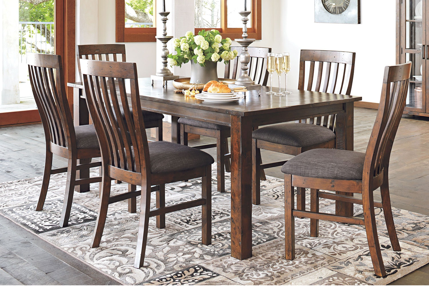 Farmhouse 7 Piece Dining Suite by John Young Furniture