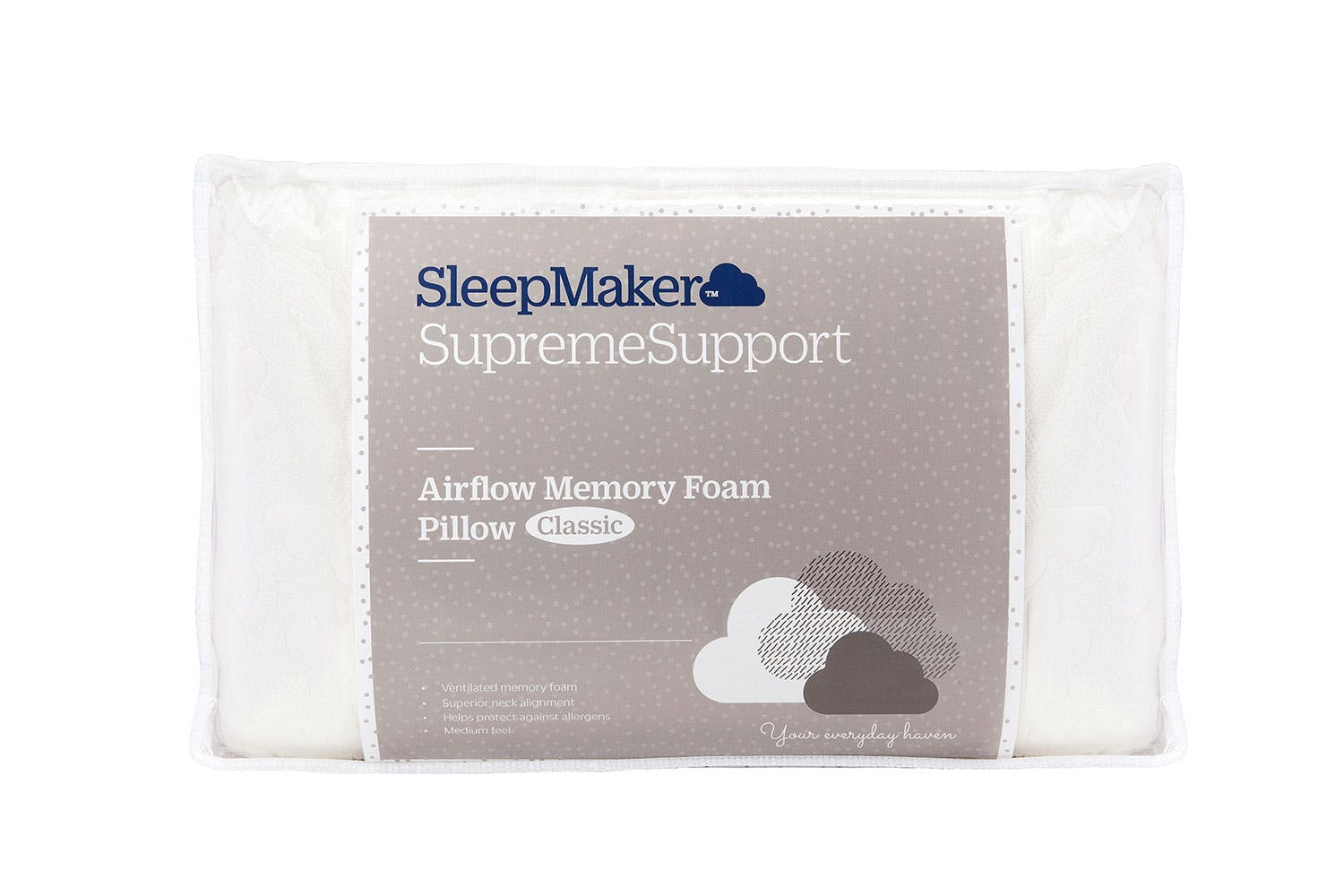 Spa Supreme Traditional Memory Foam Pillow : Supreme Support Airflow Memory Foam Pillow - Classic Harvey Norman New Zealand