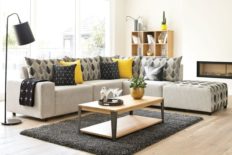 Zone Corner Lounge With Chaise By Furniture Haven Green