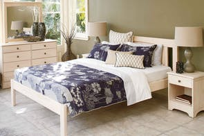 Calais 4 Piece White Wash Bedroom Suite by Coastwood Furniture
