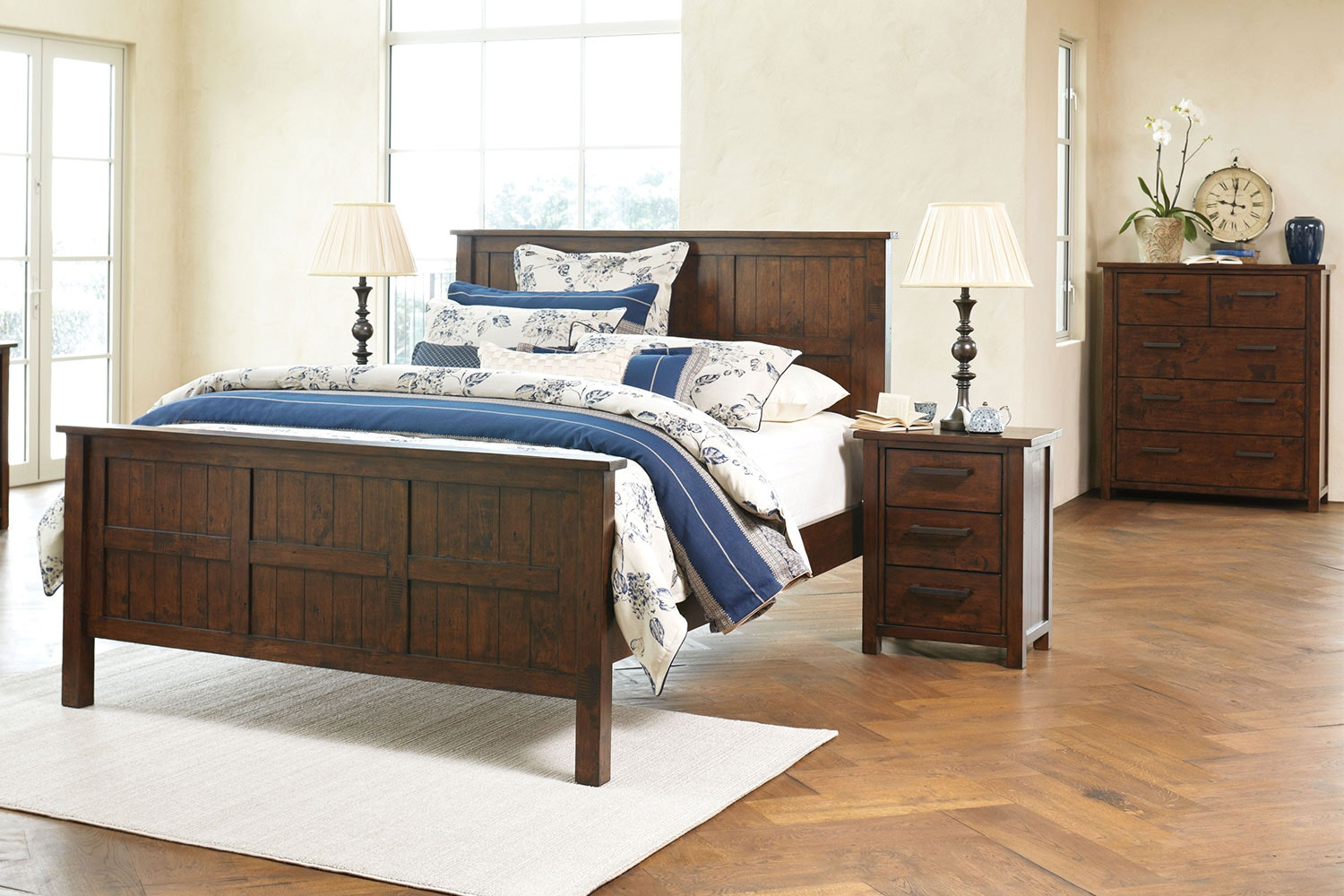 Farmhouse 4 Piece Bedroom Suite by John Young Furniture