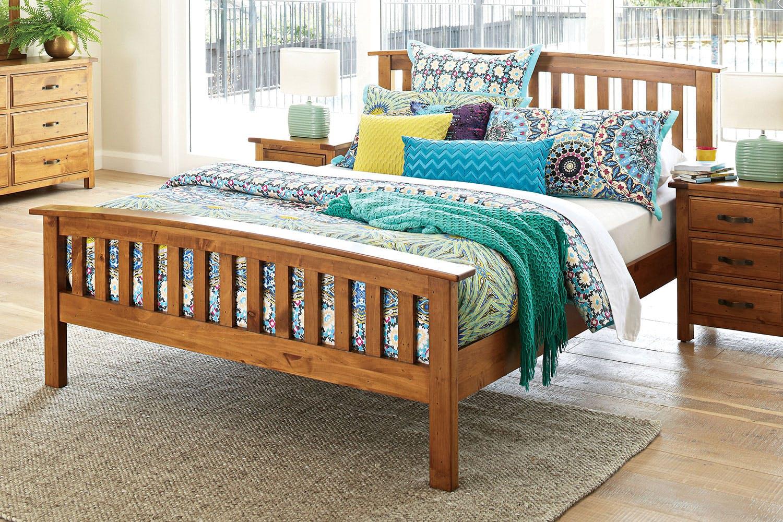 Image of Monterey Queen Bed Frame by Debonaire Furniture