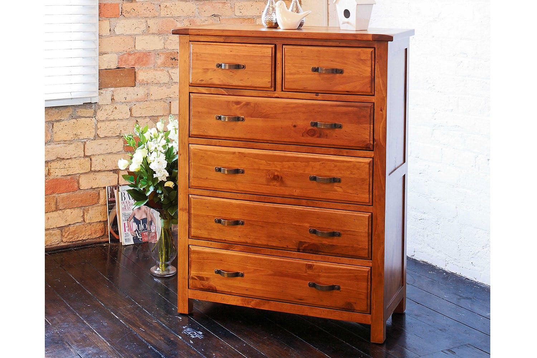 Monterey 6 Drawer Tallboy By Debonaire Furniture | Harvey Norman New Zealand