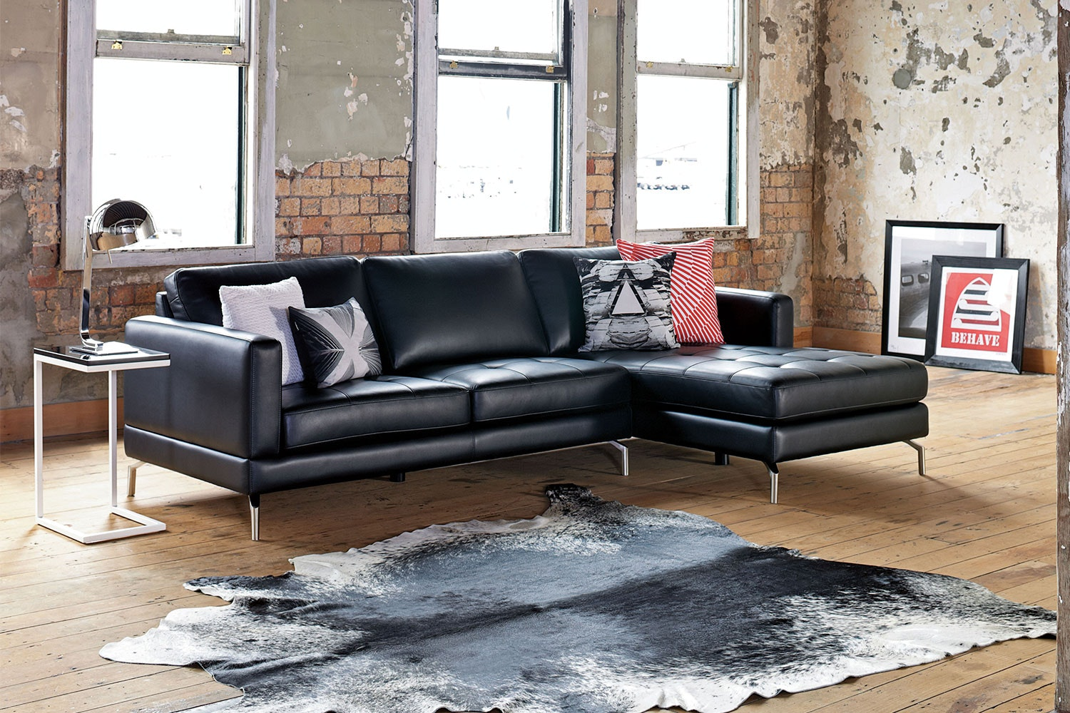 Spencer 3 Seater Fabric Sofa with Chaise : harvey norman chaise - Sectionals, Sofas & Couches