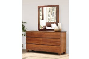 Riverwood 6 Drawer Dresser & Mirror by Sorensen Furniture