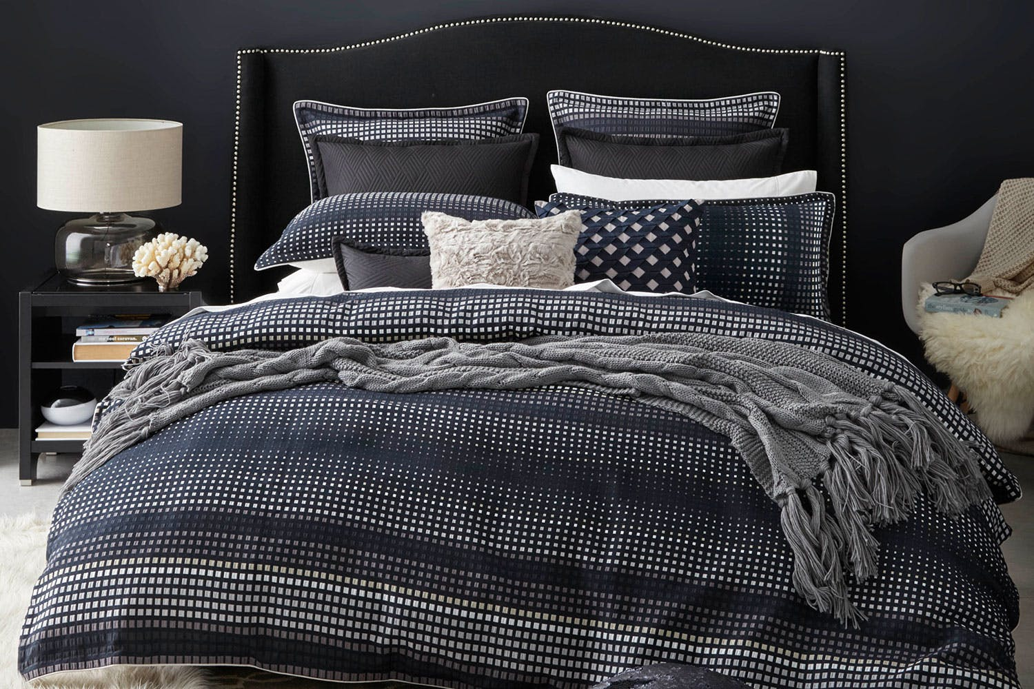sets sheets info blue duvet bed cover dark bedding single navy