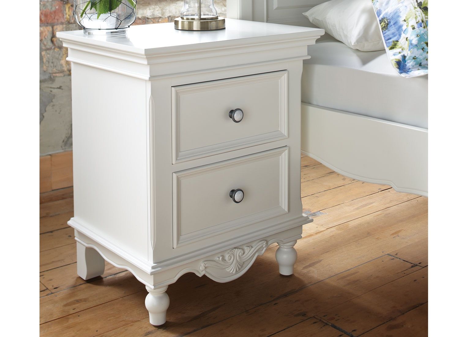 Bianca 2 Drawer Bedside Table by Garry Masters