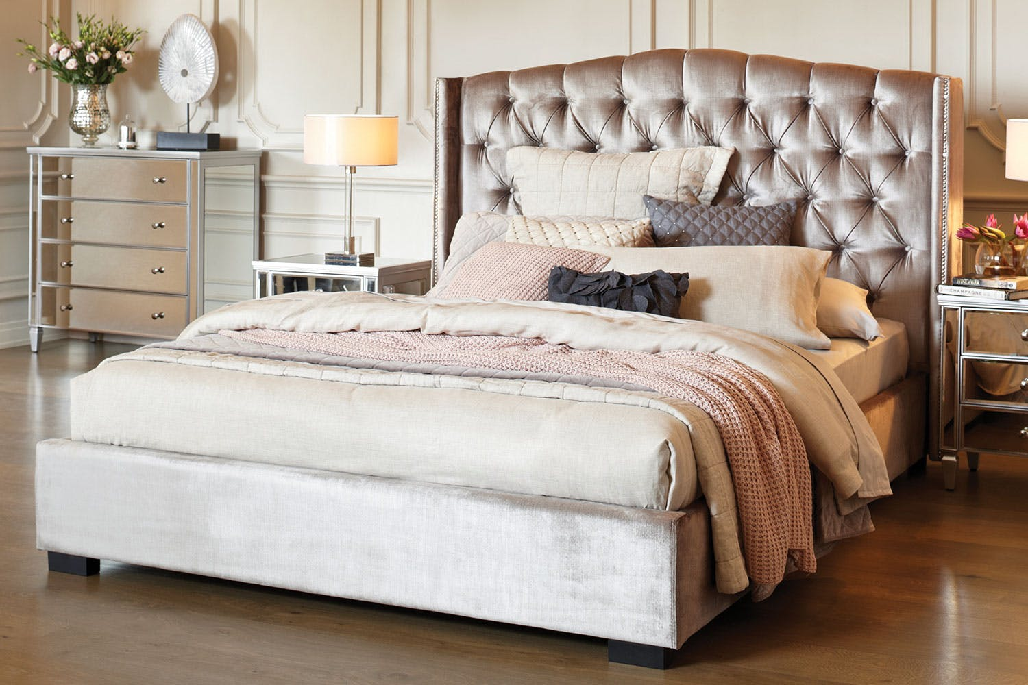 L 39 amour queen bed frame by stoke furniture harvey norman for L furniture warehouse queen