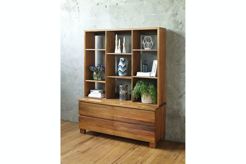 Riverwood 4 Drawer Chest and Bookcase by Sorensen Furniture